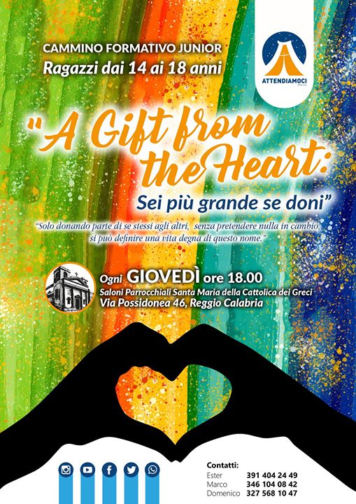 A gift from the heart | Cammino formativo Junior