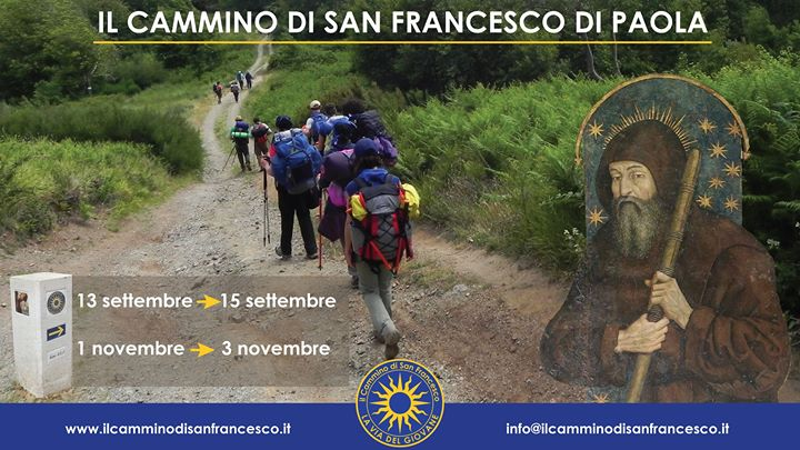 """13-14-15 settembre: """"Il Cammino di San Francesco di Paola"""""""