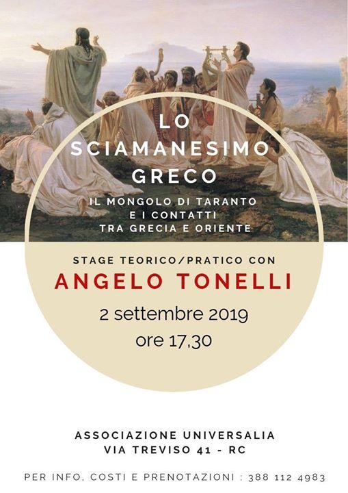 Lo sciamanesimo greco. Stage teorico-pratico con Angelo Tonellil