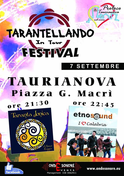 Taranta Jonica live @ Taurianova (RC) TARANTELLANDO IN TOUR