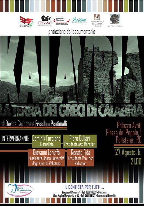 Proiezione documentario Kalavrìa, la terra dei greci di Calabria