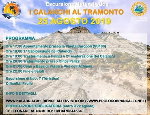 Escursione Naturalistica ai Calanchi di Palizzi (al tramonto)