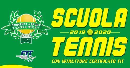 """Apertura Scuola Tennis """" A.S.D Momenti di Sport """" 2019 - 2020"""