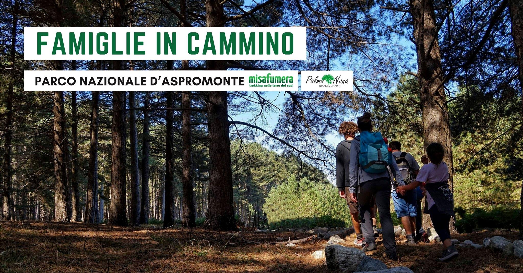 Famiglie in cammino nel Parco Nazionale d'Aspromonte