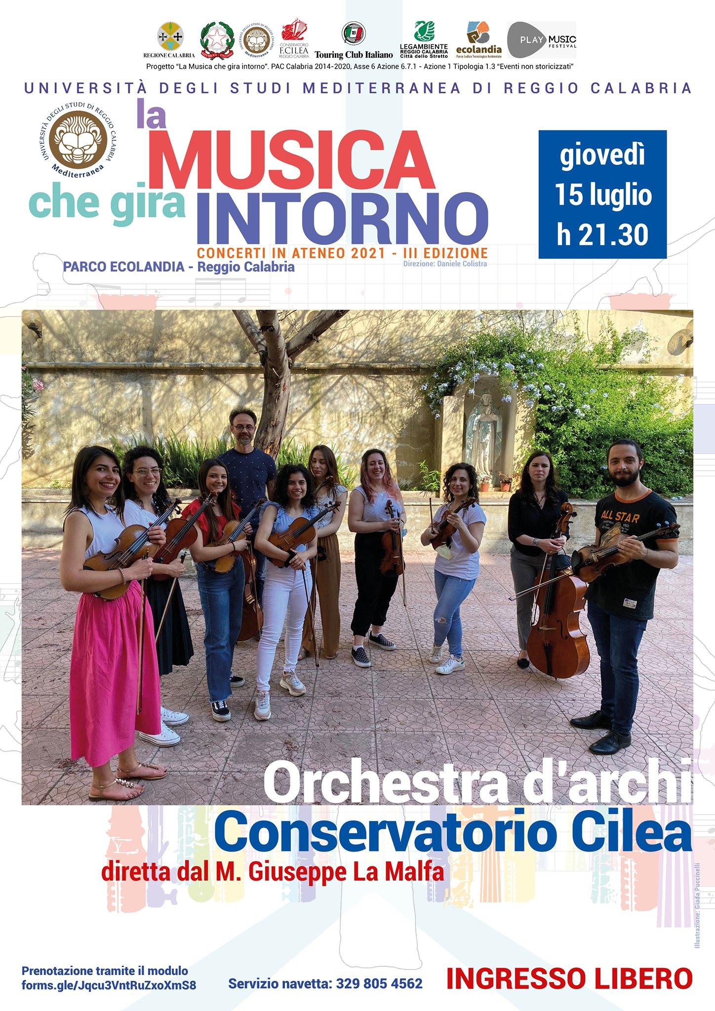 L'Orchestra d'archi del Conservatorio Cilea
